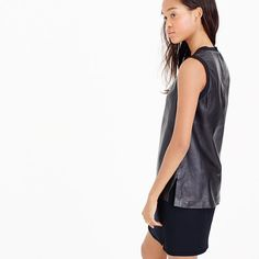 J.Crew+-+Collection+leather+tank+top