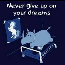 Never give up on your dreams - you can reach everything if you want!
