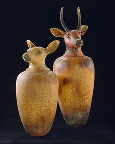 Canopic Jars, glass work by William Morris at The Metropolitan Museum of Art