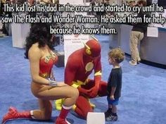 The flash and wonder woman
