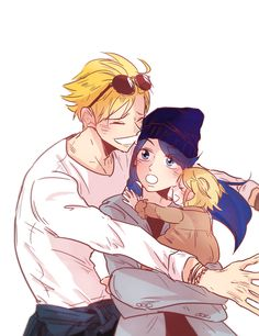 Marinette and Adrien and family!