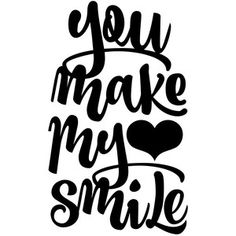 Silhouette Design Store: you make my heart smile