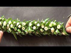 Jasmine and leaf string garland - wedding hair style - YouTube