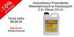 USZCZELNIACZ PRZECIEKÓW WEWNĘTRZNYCH VITCASCH-LS aktualnie w promocji: http://sklep.vitcas.pl/pl/p/Uszczelniacz-Przeciekow-Wewnetrznych-w-Instalacjach-C.O.-Vitcas-CH-LS/195