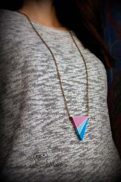 Geometric necklace. Handmade.
