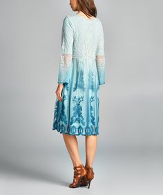 Spicy Mix Blue Lace Overlay Shift Dress | zulily