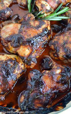 Bacon Wrapped BBQ Chicken Thighs♥