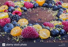 Download this stock image: Handmade cake with berries. - KPD6NN from Alamy's library of millions of high resolution stock photos, illustrations and vectors.