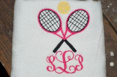 tennis towel with monogram by SassyGirlDesign1 on Etsy