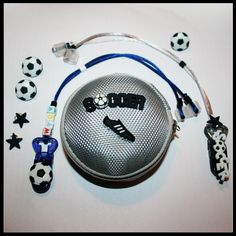 Football themed hearing aid/cochlear implant accessories package for children