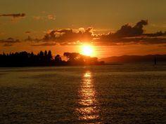 Sunset from Brac Island in Croatia