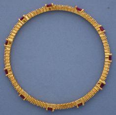 Ruby and Diamond bangle bracelet #22k, #22k Gold, #cuff bangle bracelet, #cuff bracelet, #ruby bracelet, #cuff bracelet, #diamond bangle, #diamond bangle bracelet, #Ruby and diamond bangle bracelet, #ruby and diamond cuff bracelet.