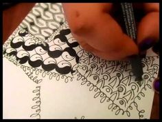 Trying New Zentangles... - YouTube