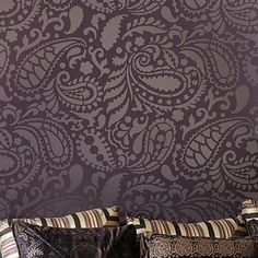 Paisley Allover Wall Stencil