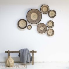 Wall Decorative Baskets (set Of Condition is New. Shipped with UPS Ground. Baskets On Wall, Wicker Baskets, Basket Decoration, Home And Living, Living Room, Wall Lights, Wall Decor, House Styles, Interior