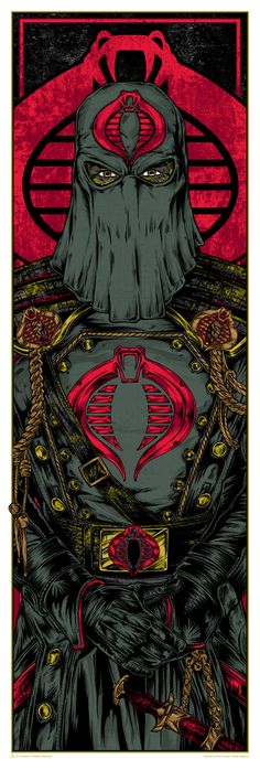 """Cobra Commander"" and ""Storm Shadow"" G. Joe Prints by Rhys Cooper (Onsale Info) - OMG Posters! Cartoon Posters, Cartoon Art, Thundercats, Comic Books Art, Comic Art, Rhys Cooper, Cobra Commander, Storm Shadow, Gi Joe Cobra"