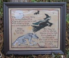 """""""This Wicked Hallow's Eve"""" is the title of this spooky Halloween cross stitch pattern from Designs by Lisa. The price does include the RIP ..."""