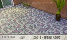 Mod The Sims - 7 Tiled Floors - Aged Vintage - volume 5