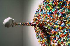 Confetti Death by Typoe Woah! Such a colorful death lol Modern Art, Contemporary Art, Academic Art, 3 Arts, Land Art, Art History, Confetti, Sprinkles, Street Art