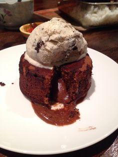 My chocolate lava cake! Chocolate Lava Cake, Lava Cakes, Ice Cream, Desserts, Food, No Churn Ice Cream, Tailgate Desserts, Deserts, Icecream Craft