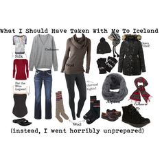 What I Should Have Taken To Iceland by susanmcu on Polyvore featuring Smartwool, Uniqlo, Donna Karan, Paul by Paul Smith, Lands' End, Joe Browns, NIKE, Lanvin, Woolrich and People Tree
