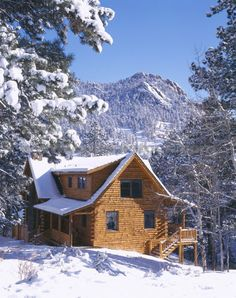 Stay in a log cabin in the mountains <3