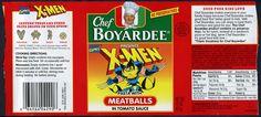 Chef Boyardee - X-Men pasta with meatballs can label - mid 1990's by JasonLiebig, via Flickr