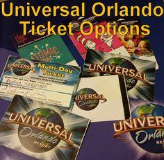 Universal Ticket Options sylvia@travelwiththemagic.com
