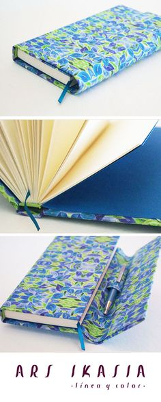 ELIXIR - Case with pen, original fabric design and bookbinding by Silvana Verdini. Buy this item at: http://www.arsikasia.com/shop.html #Case #Contemporary #Journal #Vibrant #Geometry #Square #Pink #Green