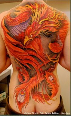 Incredible phoenix work.  Bet that took more than one sitting and a couple of pence.