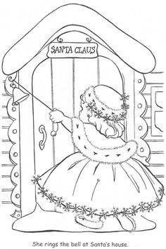 Coloring BookLittle Miss Christmas And Santa
