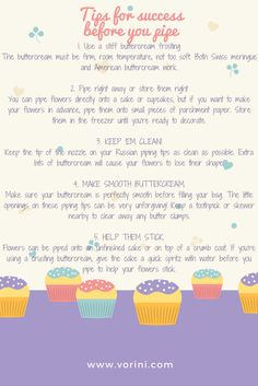 Vorini Cake Decorating Tips