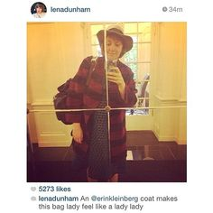 Cause its a thursday baby, and im alive!  #regram #lenadunham rocking her #erinkleinberg Twiggy coat #blessed #thateklife #comingsoon