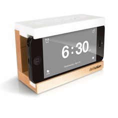 iPhone Snooze Alarm Clock White | Distil Union | Fab.com