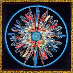 Feather mandala by Paul Heussenstamm. http://www.mandala.com