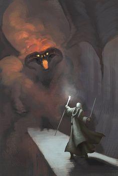 Gandalf vs. Balrog - Lord of the Rings - Dennis Bell