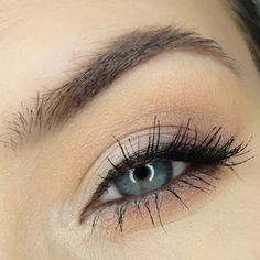 Look ethereal everyday in barely-there neutrals and subtle winged out liner. See the products suggested to recreate this basic makeup.