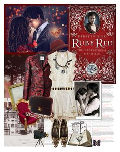 """Outfit für echte Fans:  """"Book Review: Ruby Red by Kerstin Gier"""" by bittersweet89 ❤ liked on Polyvore"""