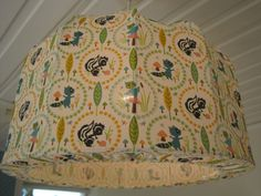 Lampshade Pendant light retro animals very by Missremaidsweden, $65.00