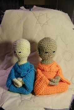 Crochet buddha knitting jizo amigurumi