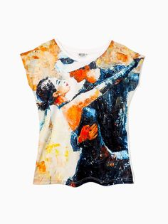 Artistic Female T-shirt  Tango HIGH QUALITY by ArtEgoDesigns