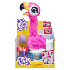 Little Live Pets, Little Girl Toys, Cool Toys For Girls, Little Girls, Christmas Toys For Girls, Family Christmas, Christmas Gifts, Flamingo Toy, Pink Flamingos