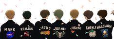 Nct 127, Cute Funny Pics, Nct Dream Jaemin, Kpop Fanart, My Mood, Cute Stickers, Kpop Groups, Taeyong, Cute Drawings