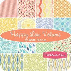 Happy Low Volume Fat Quarter Bundle Moda Fabrics