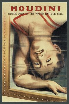 Strobridge - Magicians: Houdini: Upside Down in the Water Torture Cell - art prints and posters