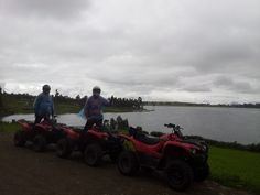 Pasando por las orillas de la Laguna en las Cuatrimotos http://condetravel.travel/ #Cuatrimotos