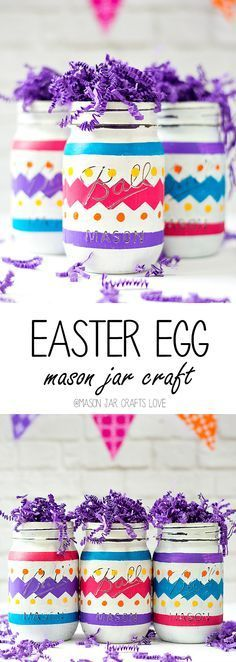 Easter Egg Mason Jar Craft | Mason Jar Crafts Love