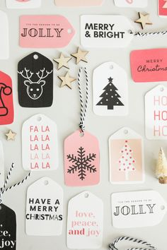64 Free Printable Christmas Gift Tags + Simple Wrapping Ideas - Paisley + Sparrow