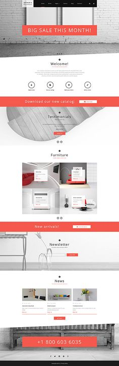 Interior & Furniture website inspirations at your coffee break? Browse for more Joomla #templates! // Regular price: $75 // Sources available: .PSD, .PHP #Interior & Furniture #Joomla