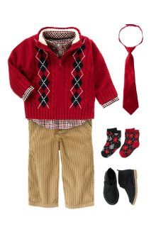 this + black cords just might have to be James' Christmas outfit ...